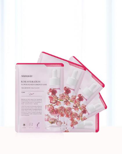 梦妆梦妆MAMOND 花植研究亲肤鲜润蔷薇润泽舒缓面膜礼盒套装5片 补水保湿 修护舒缓