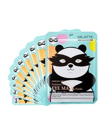 MILATTEMILATTE黑熊家族熊猫亮白眼贴