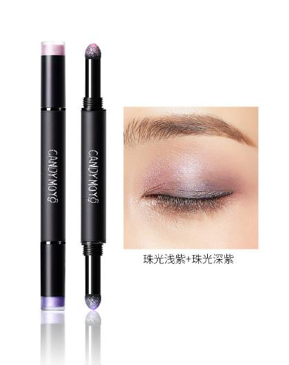 膜玉光感慕斯双头气垫眼影笔 珠光浅紫+珠光深紫 CMEY01