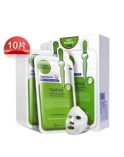 美迪惠尔【控油补水】美迪惠尔茶树面膜升级版(盒装)10片控油面膜