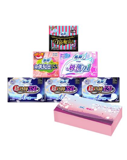 苏菲【礼盒装】日本尤妮佳苏菲人气爆款6包82片 以实物为准