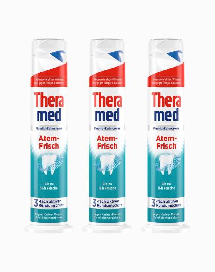 护齿达护齿达Theramed清新立式牙膏 100ml*3 清新口气