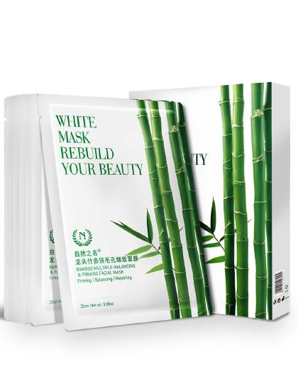 自然之名自然之名 龙头竹多倍毛孔细致面膜 7片盒装 控油面膜