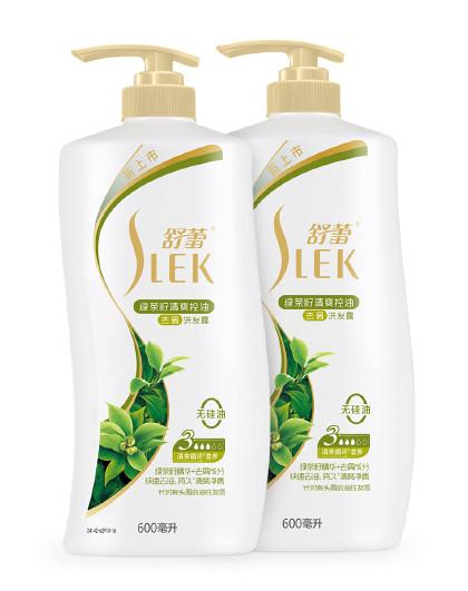舒蕾舒蕾绿茶籽清爽控油去屑洗发露600ml双只装 无硅油洗发水 绿色