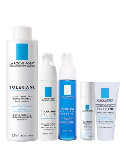理肤泉理肤泉敏感肌日夜修护全系列套装 法国原装进口 白色