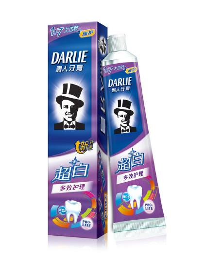 黑人牙膏Darlie黑人牙膏超白多效护理牙膏190g 美白防蛀 呵护牙龈 其他颜色