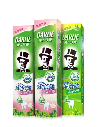 黑人牙膏Darlie黑人牙膏茶倍健牙膏3件套270g 清新口气 呵护牙龈 牙膏套装