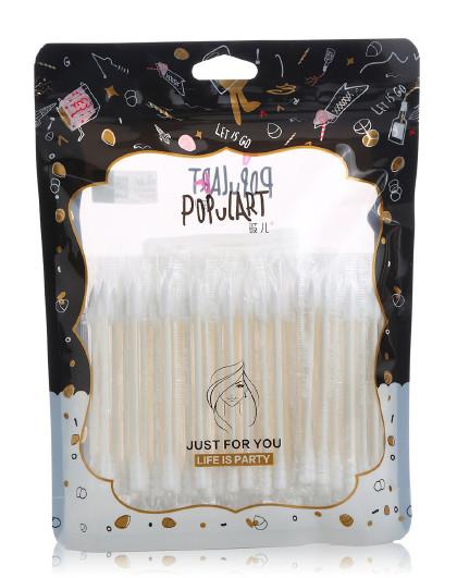 玻儿玻儿独立包装棉签100PCS 棉头饱满 柔软不掉絮 棉棒 白色