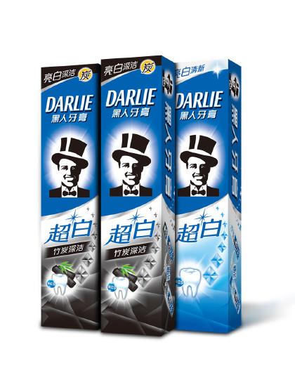 黑人牙膏Darlie黑人牙膏超白竹炭深洁牙膏净白双效3件套270g 美白护齿 天然竹炭 牙膏套装