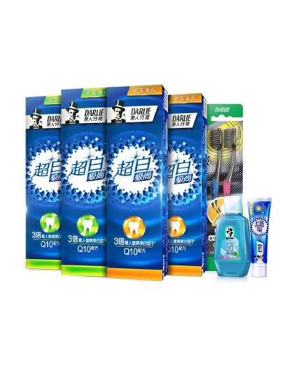 黑人牙膏Darlie黑人牙膏【热巴同款】超白极尚超值5件480g