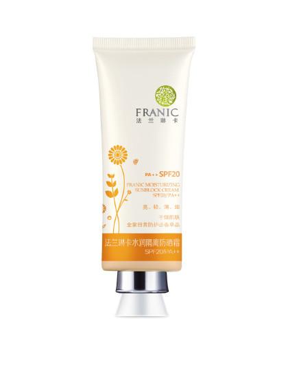 法兰琳卡水润隔离防晒霜SPF20 PA++40ml(肤色)