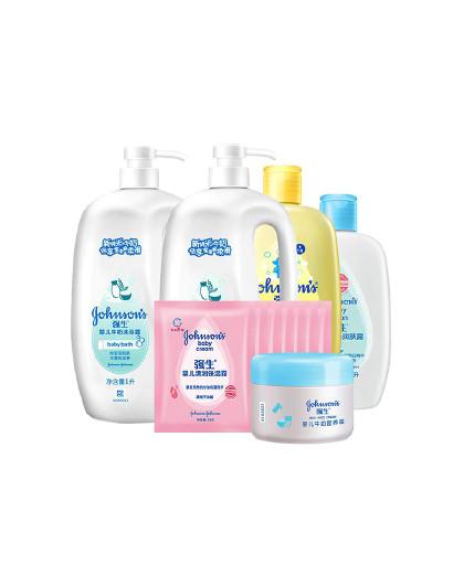 强生婴儿强生 婴儿 洗护大礼包 2L+500ml+85g 牛奶滋润营养 清润保湿 呵护肌肤 见实物