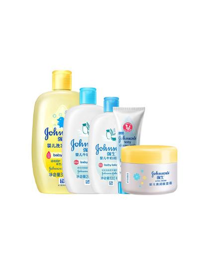 强生婴儿强生 婴儿 洗护润肤 套装 牛奶滋养 润发护肤 见实物