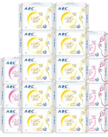 ABCABC日夜卫生巾组合特惠经典套装17包136片  姨妈巾 见实物