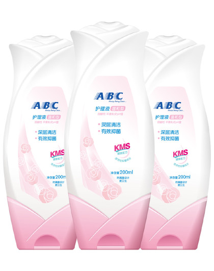 ABCABC女性私处卫生护理液200ml*3瓶(温和型)