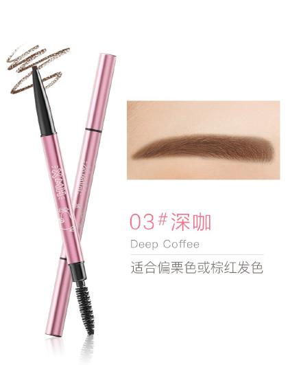 小迷糊双头眉笔 小迷糊自然锁色眉笔 棕色 灰色 深咖色 0.2g 双头眉笔 简单易画 立体自然