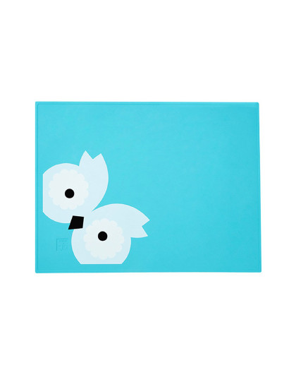 好孩子GB好孩子儿童印花硅胶餐垫(舒畅蓝) 防水防滑隔热垫 餐具餐桌垫杯垫宝宝餐垫 其他颜色