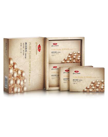 京润珍珠【美白淡斑控油】京润珍珠  纯珍珠粉(微米级) 25g*4  珍珠粉面膜