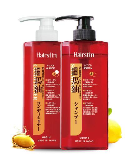 赫丝町赫丝町 日本马油蜂蜜洗护套装1200ml 滋养损伤修护 无硅油洗发水护发素