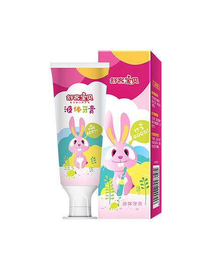 舒客宝贝液体牙膏青柠味40克(兔子款)