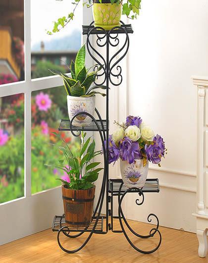 现代简约欧式铁艺4层花架