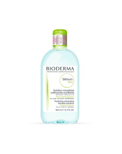 贝德玛贝德玛BIODERMA净妍控油洁肤液 卸妆水 绿水 500ml