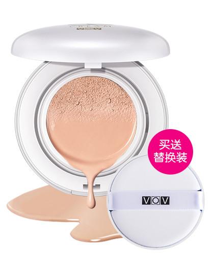 VOVVOV薇欧薇晶透裸肌气垫霜(含替换装)21# 13g+13g BB 亮白色