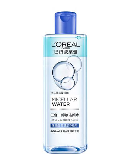 欧莱雅卸妆魔术水 三合一卸妆洁颜水深澈型400ml 温和卸妆水