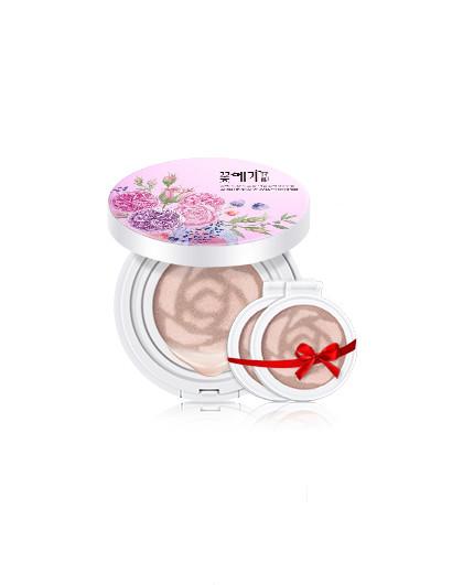 花酿花酿 玫瑰水光双色气垫BB霜12g,送2个替换装