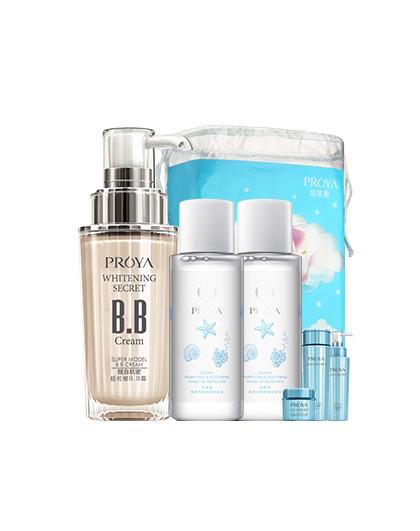 珀莱雅靓白肌密净颜组合 护肤套装 美白 裸妆 BB霜 卸妆水