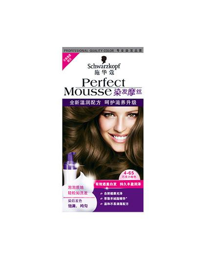 施华蔻施华蔻 摩丝染发乳4-65巧克力棕色 染发