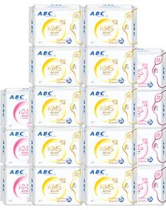 ABCABC日夜228特惠卫生巾囤货大套装17包136片(240mm*80片+280mm*56片) 见实物