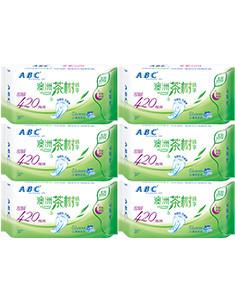 ABCABC茶树系列全夜用卫生巾套装6包18片 姨妈巾 见实物