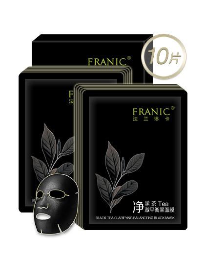 法兰琳卡黑茶净澈平衡黑面膜10片装 其它颜色