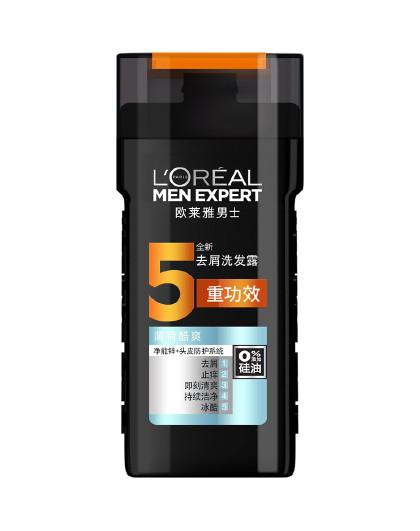 欧莱雅欧莱雅男士去屑洗发露(薄荷酷爽) 200ml 男士洗发水  头发清洁