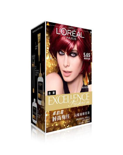 欧莱雅欧莱雅卓韵霜赋活养护染发霜 5.65号(绚丽酒红) 染发霜 持久发色