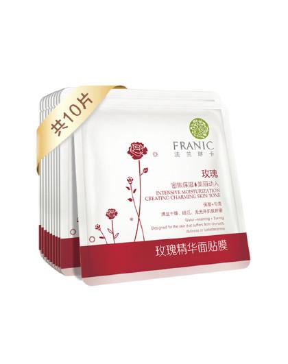 法兰琳卡玫瑰精华面贴膜25ml 10片