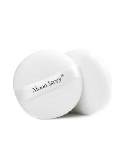萌黛儿萌黛儿MoonStory白色纯棉粉扑2片装 易上妆 不吃粉海绵粉扑