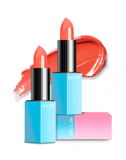 水密码水密码WETCODE粉漾初色美唇膏3.5g元气橘红色 橘红色002