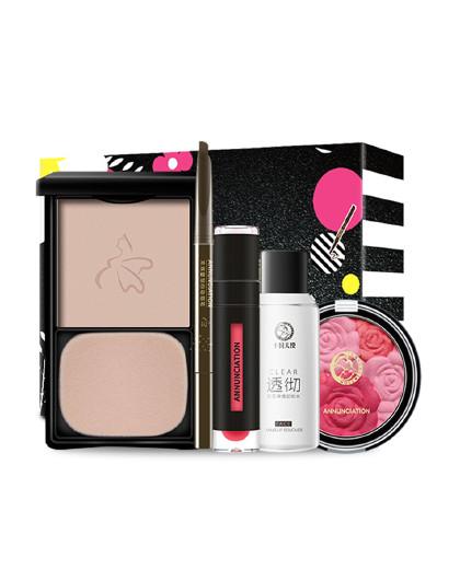 十月天使十月天使 彩妆5件套装(粉饼+腮红+唇釉+眉笔+卸妆水)孕妇化妆品