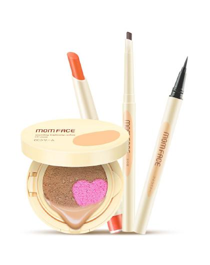 亲润亲润孕妇化妆品护肤品孕期精致裸妆4件套装(双色CC霜+口红+眉笔+眼线液笔) 其他颜色