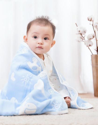 子初子初婴儿盖毯105*105cm A类美棉 厚簿适中 四季可用 婴儿抱毯 见实物