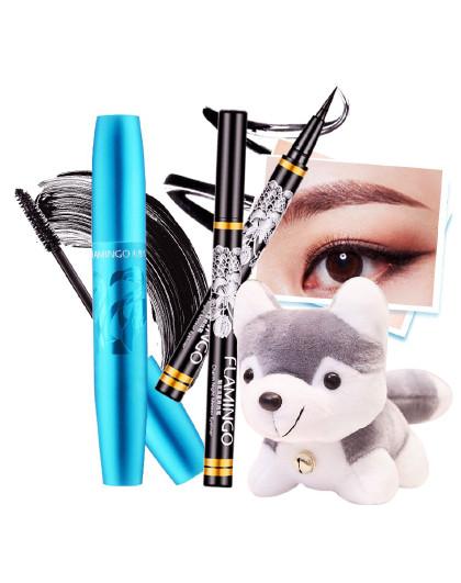 火烈鸟火烈鸟flamingo10年经典眼妆组合 睫毛膏+眼线液 化妆品彩妆套装