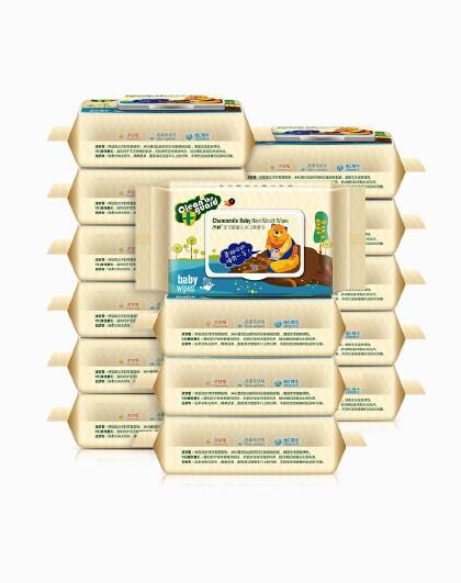 子初子初婴儿手口柔湿巾80抽15包 带盖子洋甘菊配方 不添加丙二醇 手口可用