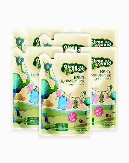 子初婴儿洗衣液新生宝宝洗衣液专用儿童补充装500g*6袋除去奶渍