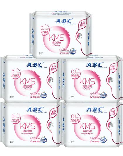 ABCABC轻透薄量多日/量少夜卫生巾套装280mm*40片