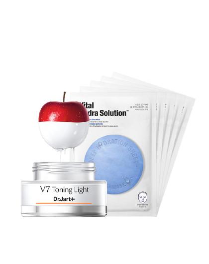 蒂佳婷蒂佳婷Dr.Jart+V7素颜霜限量惊喜礼盒(素颜霜赠5片面膜、提亮肤色、美白补水套装)