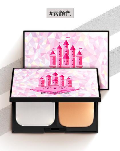 瓷妆瓷妆 轻雾城堡心机双效素颜遮瑕控油定妆 粉饼
