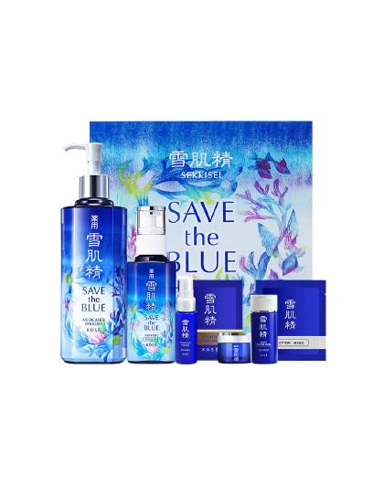 雪肌精【海洋限定款】雪肌精 日本大容量水乳护肤品(清润型)补水保湿礼盒 蓝色