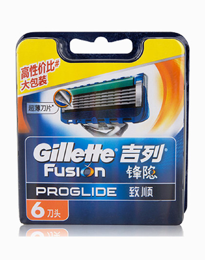 吉列吉列Gillette 吉列锋隐致顺6刀头 舒适顺滑 锋隐致顺刀片 手动刮胡剃须刀片